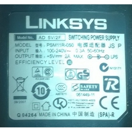 Original LinkSys Power Supply for PAP2T, SPAx
