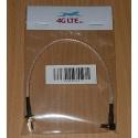 RG316 SMA HEMBRA CRC9 ÁNGULO MACHO cable RF Coaxial