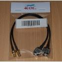 Une paire de RP TNC mâle vers RP SMA femelle Cable Assembly connecteur