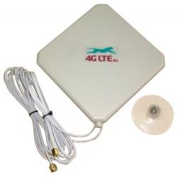 4G LTE dual, cuadrada forma antena 7dBi con 2 x SMA extremo