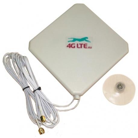4G LTE dual, quadratische Form Antenne 7dBi mit 2 x SMA Ende