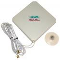 4G LTE dual, de forma cuadrada de la Antena de 7dBi con 2 x SMA final