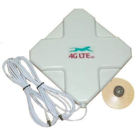 4G LTE, double cross forme antenne 7dBi avec 2 x TS-9 finale