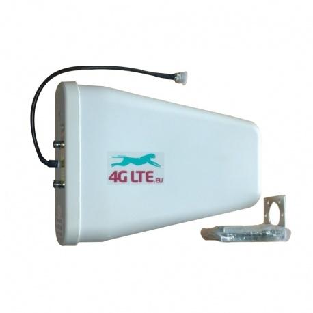 4G LTE antenne 800/1800/2600 MHz, 9dBi avec fin de Type N