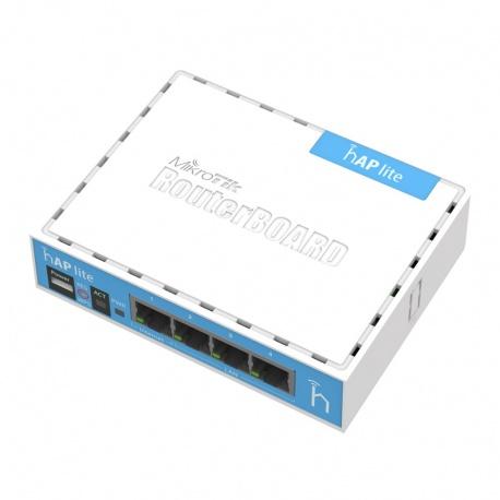 MikroTik RouterBoard hAP Lite clásico (RouterOS Nivel 4) del reino unido con el de la fuente de alimentación