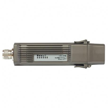 MikroTik RouterBoard Metal 2SHPn (RouterOS Nivel 4) con Inyector PoE y fuente de alimentación