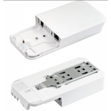 MikroTik RouterBoard wAP ac mit Netzteil RouterOS L4 weißen Gehäuse