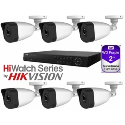 HiWatch 2TB NVR 6 X Bullet Kit