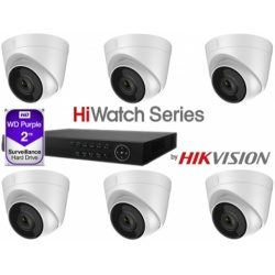 HiWatch 2TB NVR 6 X Turret Kit