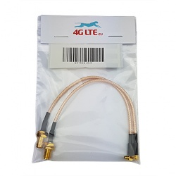 2xCoaxial Cable RG178, MMCX Ángulo recto Macho a SMA Hembra, 15cm
