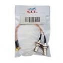 Une paire de câbles de l'Assemblée TNC Femelle à MCX Angle Droit Mâle