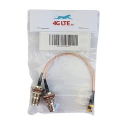 Un par de Cable de la Asamblea RP TNC Mamparo Hembra en Ángulo recto Macho MMCX