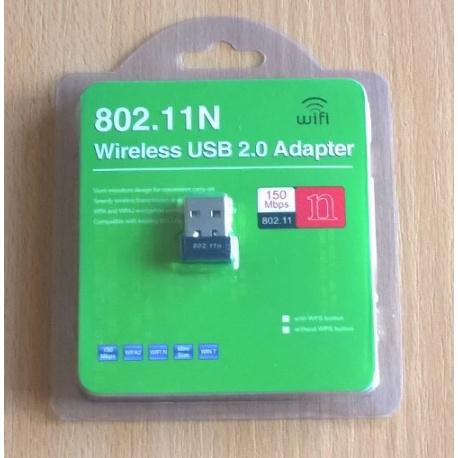 Ralink 5370 mini USB Wi-Fi adapter 150Mbps, 2.4Ghz, black