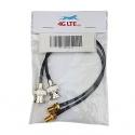 Une paire de BNC mâle à assemblage noir câble SMA Female