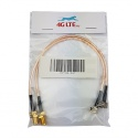 A pair of RP SMA FEMALE to TS-9 Male Angle cable assimbly