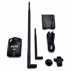 Alfa Wireless N USB Adapter Atheros + 9dBi Antenna