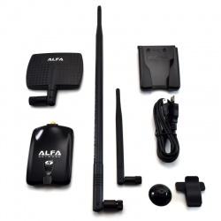 Alfa USB-Adapter, Atheros-7dBi Antenne + 9dBi Antenne + U-Mount