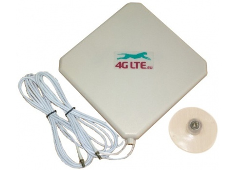 4G LTE dual, square-Form-Antenne 7dBi mit 2 x TS-9-Ende