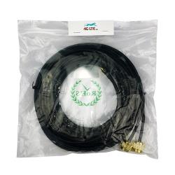 Câble Coaxial de liaison N Mâle-SMA Mâle 10m Duplex d'Or