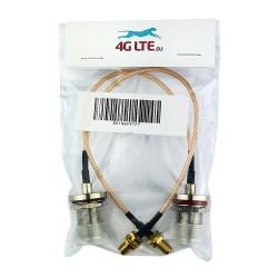 Un par de tabique hermético N hembra para montaje de cable SMA RP hembra